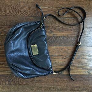 MARK JACOBS NATASHA Leather Crossbody Bag Blk Used